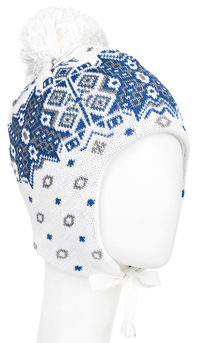 Шапка Kama Alpine Beanies, цвет: белый, серый, синий. A66_100. Размер универсальныйA66_100Стильная шапка Kama Alpine Beanies дополнит ваш наряд и не позволит вам замерзнуть в холодное время года. Шапка выполнена из шерсти и акрила, что позволяет ей великолепно сохранять тепло и обеспечивает высокую эластичность и удобство посадки. Внутри - флисовая подкладка. Дополнена модель завязками, которые фиксируются под подбородком. Оформлено изделие интересным узором и большим помпоном на макушке. Такая шапка составит идеальный комплект с модной верхней одеждой.