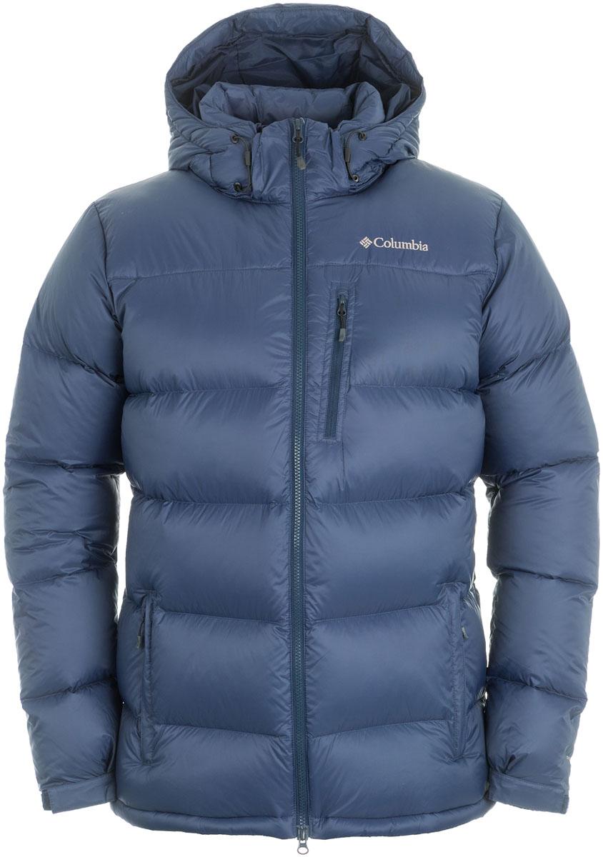 Пуховик мужской Columbia Groomed Powder Down Jacket, цвет: синий. 1674951-464. Размер XL (52/54)