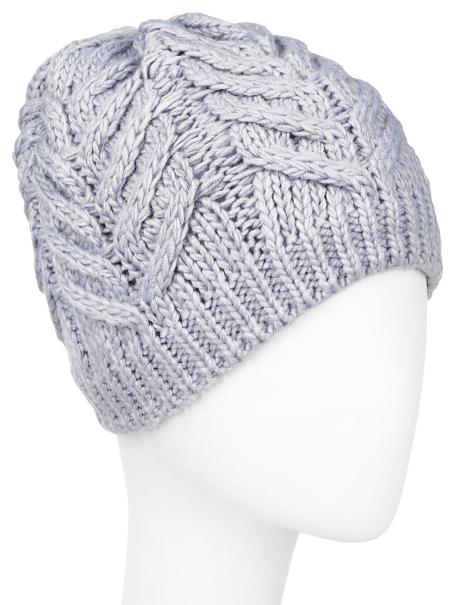 Шапка женская Sela, цвет: серый. HAk-141/019W-6404. Размер 56/58HAk-141/019W-6404Вязаная женская шапка Sela выполнена акрила с добавлением шерсти, отлично подойдет для модниц в холодное время года. Она мягкая и приятная на ощупь, обладает хорошими дышащими свойствами и максимально удерживает тепло. Внутри - флисовая подкладка.Изделие оформлено крупным вязаным узором.Такой стильный и теплый аксессуар подчеркнет ваш образ и индивидуальность. Уважаемые клиенты!Размер, доступный для заказа, является обхватом головы.
