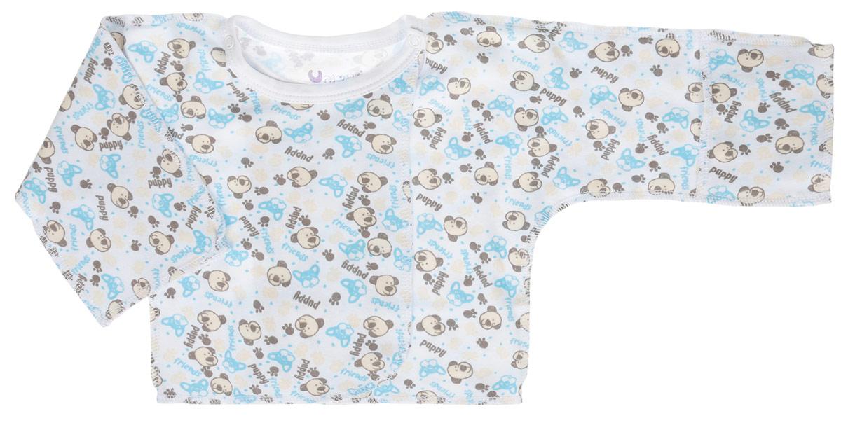 Распашонка Unique, цвет: белый, бежевый. U0049. Размер 56U0049-1Распашонка для новорожденных Unigue с длинными рукавами-кимоно послужит идеальным дополнением к гардеробу вашего малыша, обеспечивая ему наибольший комфорт. Распашонка изготовлена из натурального хлопка, благодаря чему она необычайно мягкая и легкая, не раздражает нежную кожу ребенка и хорошо вентилируется, а эластичные швы приятны телу малыша и не препятствуют его движениям. Распашонка для новорожденного, оформленная оригинальным принтом, выполнена швами наружу. Благодаря системе застежек-кнопок по принципу кимоно модель можно полностью расстегнуть. А благодаря рукавичкам ребенок не поцарапает себя.Распашонка полностью соответствует особенностям жизни ребенка в ранний период, не стесняя и не ограничивая его в движениях. В такой распашонке малышу будет уютно и комфортно.
