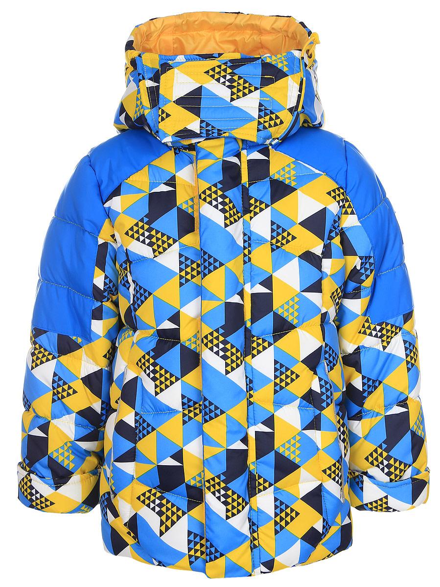 Куртка для мальчика Boom!, цвет: голубой. 64363_BOB_вар.2. Размер 158, 11-12 лет64363_BOB_вар.2Теплая куртка для мальчика Boom! идеально подойдет вашему ребенку в холодную погоду. Модель изготовлена из водонепроницаемой и ветрозащитной ткани, на подкладке из полиэстера с добавлением вискозы. В качестве утеплителя используется синтепон. Большая часть подкладки выполнена из теплого мягкого флиса. Куртка с капюшоном застегивается на пластиковую застежку-молнию и дополнительно имеет защиту подбородка и внешнюю ветрозащитную планку на липучках. Капюшон не отстегивается и по краю дополнен скрытой резинкой со стопперами. Также капюшон регулируется при помощи хлястиков на липучках и застегивается под подбородком на липучки. Спереди модель дополнена двумя прорезными кармашками. Рукава имеют трикотажные эластичные манжеты с прорезями для больших пальцев. Внутри куртки предусмотрена специальная эластичная вставка на кнопках, защищающая от снега и ветра. Оформлено изделие оригинальным принтом и дополнено светоотражающими элементами, которые не оставят вашего ребенка незамеченным в темное время суток.В комплект входит маска для занятий зимними видами спорта. В такой куртке вашему ребенку будет тепло и комфортно!