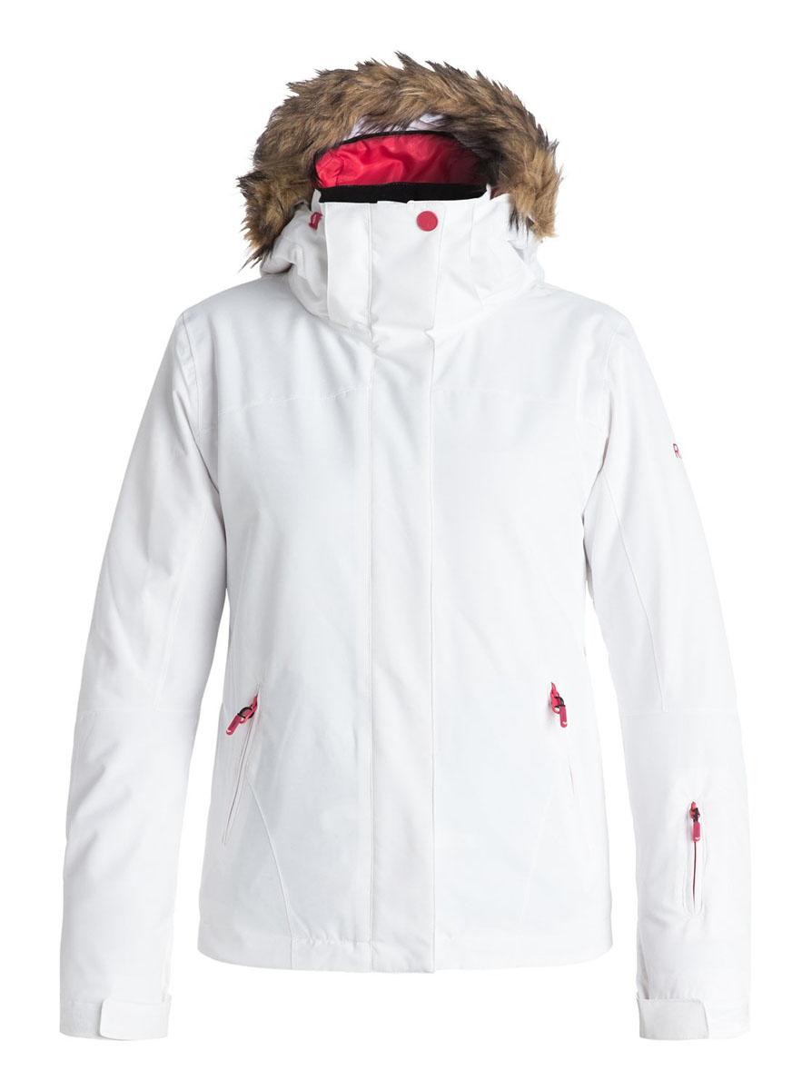 Куртка для сноуборда женская Roxy Jet Ski Solid, цвет: белый. ERJTJ03056-WBB0. Размер M (44)ERJTJ03056-WBB0Женская куртка для сноуборда выполнена из полиэстера с утеплителем Warmflight (тело 120 г, рукава 100 г, капюшон 60 г). Подкладка из тафты со вставками из трикотажа с начесом. Критические швы проклеены. Съемный капюшон регулируется тремя способами. Съемная оторочка капюшона из искусственного меха. Фиксированная противоснежная юбка из тафты с удобными кнопками. Система пристегивания куртки к штанам. Подкладка в районе подбородка. Куртка дополнена нагрудным карманом, внутренним медиакарманом, внутренним карманом для маски, брелоком для ключей. Лайкровые гейтеры в рукавах. Кармашек для скипасса на рукаве. Сеточная вентиляция подмышками. Карманы с теплой подкладкой.