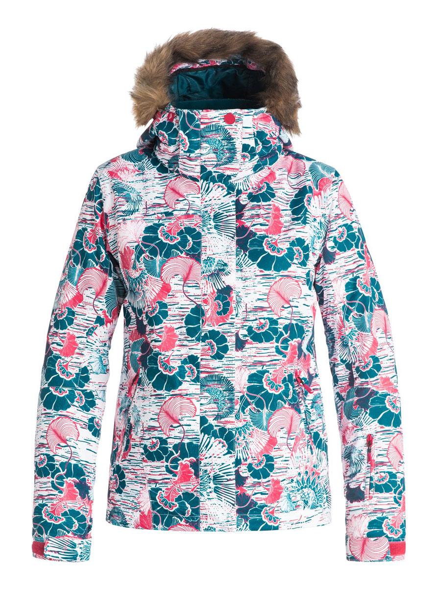 Куртка для сноуборда женская Roxy Jet Ski, цвет: синий, оранжевый. ERJTJ03053-BSK9. Размер S (42)ERJTJ03053-BSK9Женская куртка для сноуборда выполнена из полиэстера с утеплителем Warmflight (тело 120 г, рукава 100 г, капюшон 60 г). Подкладка из тафты со вставками из трикотажа с начесом. Критические швы проклеены. Съемный капюшон регулируется тремя способами.Съемная оторочка капюшона из искусственного меха.Фиксированная противоснежная юбка из тафты с удобными кнопками.Система пристегивания куртки к штанам.Подкладка в районе подбородка.Куртка дополнена внутренним медиакарманом, внутренним карманом для маски, брелоком для ключей.Лайкровые гейтеры в рукавах.Кармашек для скипасса на рукаве.Сеточная вентиляция подмышками.Карманы с теплой подкладкой.
