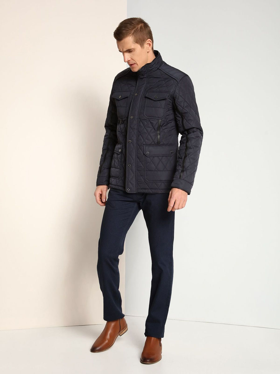 Куртка мужская Top Secret, цвет: темно-синий. SKD0140GR. Размер L (50)SKD0140GR