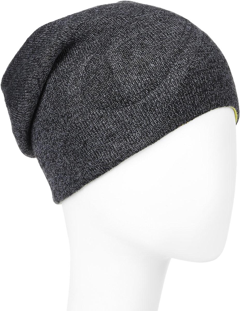 Шапка двусторонняя Quiksilver Heatbag Slouch M Hats Xkky, цвет: черный, желтый. AQYHA03596-XKKY. Размер универсальныйAQYHA03596-XKKYДвусторонняя шапка Quiksilver Magic идеально подойдет для прогулок в прохладное время года. Изготовленная из акрила, она обладает хорошими дышащими свойствами и хорошо удерживает тепло. Шапка оформлена надписью с названием бренда.Такая шапка станет модным и стильным предметом детского гардероба. Она улучшит настроение даже в хмурые прохладные дни!