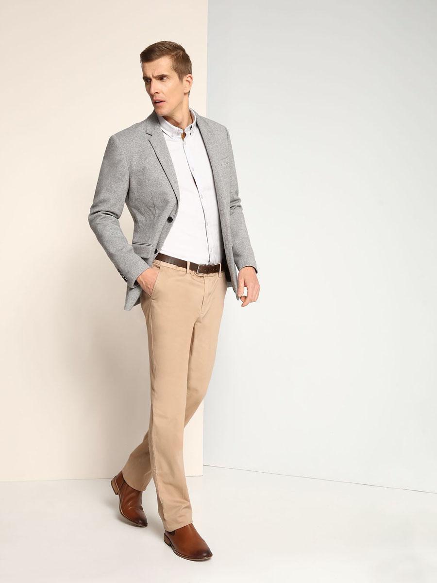 Рубашка мужская Top Secret, цвет: светло-серый. SKL2139SZ. Размер 46 (54)SKL2139SZСтильная мужская рубашка Top Secret, выполненная из натурального хлопка, позволяет коже дышать, тем самым обеспечивая наибольший комфорт при носке. Модель классического кроя с отложным воротником и длинными рукавами застегивается на пуговицы по всей длине. Воротник пристегивается к рубашке с помощью пуговиц. Манжеты рукавов дополнены застежками-пуговицами. Рубашка оформлена оригинальным принтом.