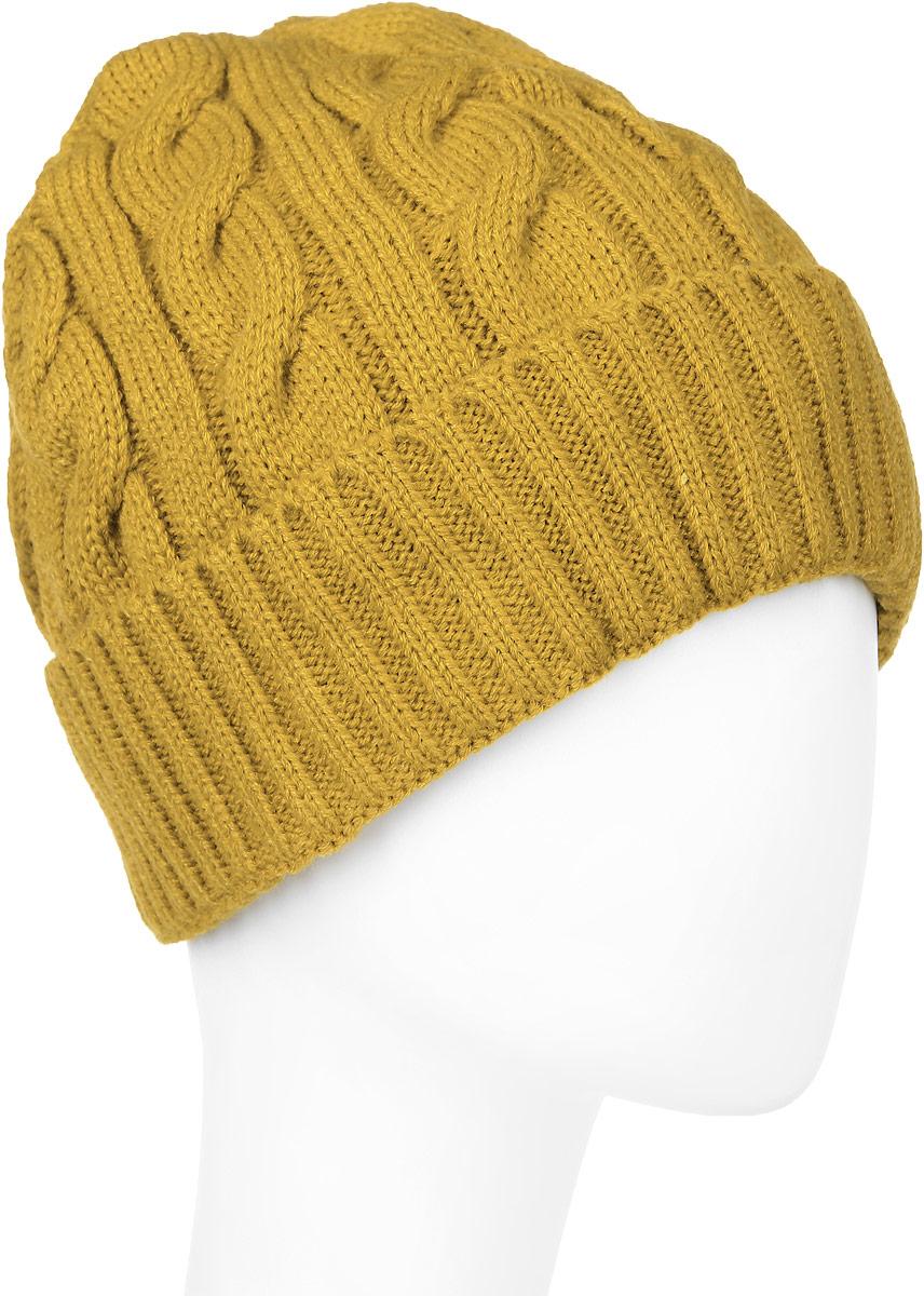 Шапка New Era Cable Knit, цвет: горчичный. 11277749. Размер универсальный11277749-MUSВязаная шапка New Era Cable Knit выполнена из 100% акрила. Модель оформлена крупным вязаным узором.