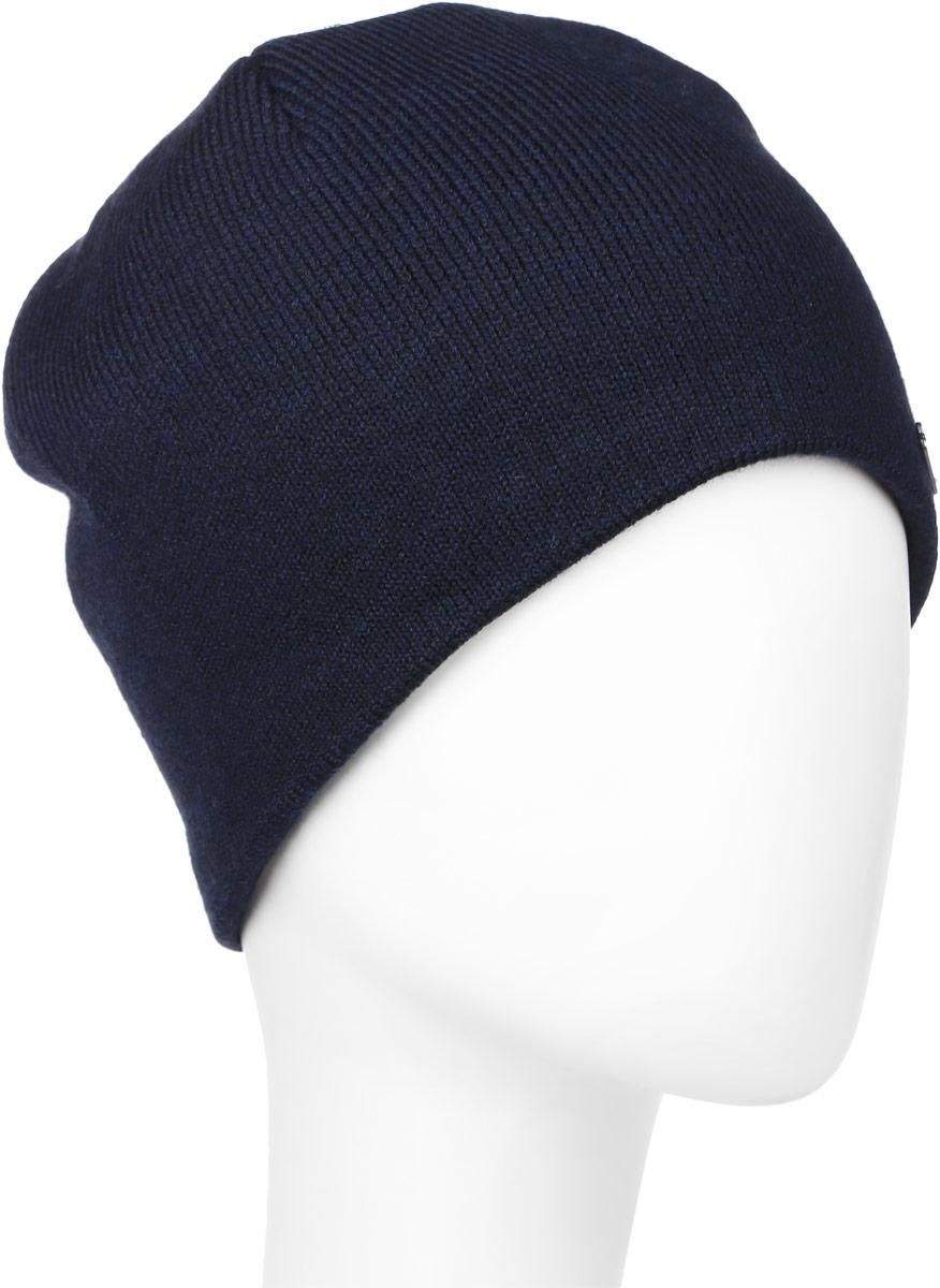 Шапка мужская Baon, цвет: темно-синий. B846518. Размер универсальныйB846518_DEEP NAVYВязаная мужская шапка Baon выполнена из акрила и шерсти. Подкладка изготовлена из мягкого флиса. Шапка украшена небольшим лейблом с логотипом производителя.