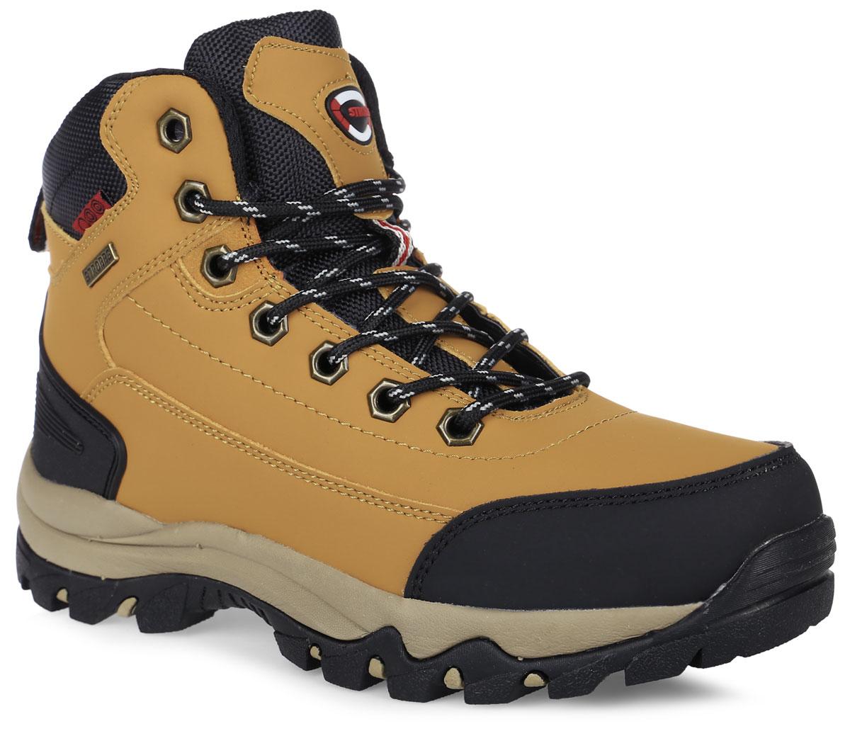 Ботинки женские Strobbs, цвет: горчичный, черный. F8165-17. Размер 37F8165-17Стильные ботинки от Strobbs придутся вам по душе. Модель изготовлена из искусственной кожи. Подкладка и стелька, выполненные из искусственного меха, не дадут ногам замерзнуть. Шнуровка надежно фиксирует модель на ноге. Ярлычок на заднике обеспечивает удобное обувание модели. Подошва с протектором гарантирует идеальное сцепление на любой поверхности. Стильные и удобные ботинки - необходимая вещь в вашем гардеробе.