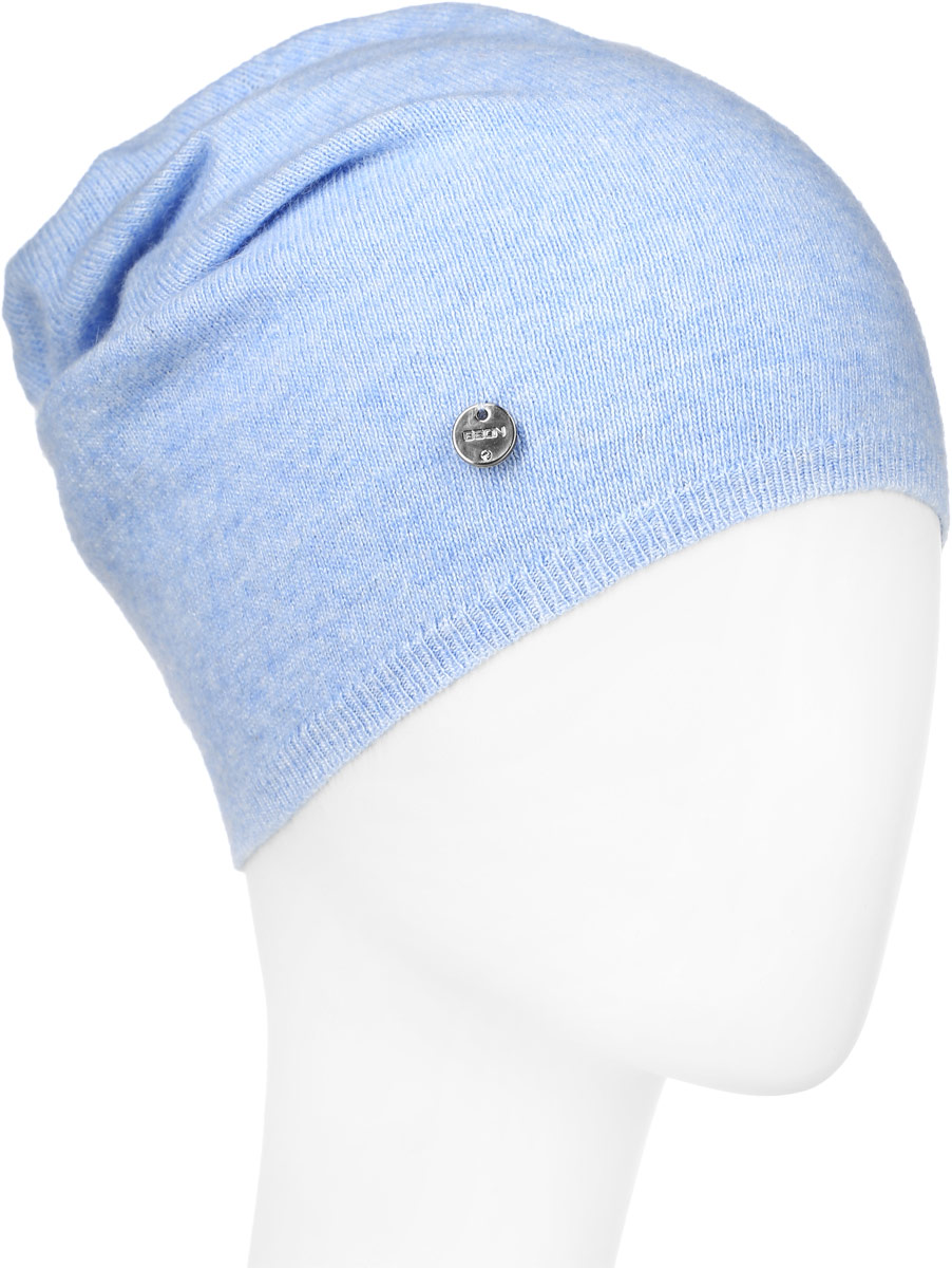 Шапка женская Baon, цвет: голубой. B346544. Размер универсальныйB346544_CLOUDY BLUEВязаная женская шапка Baon выполнена из высококачественной комбинированной пряжи, что позволяет ей великолепно сохранять тепло и обеспечивает высокую эластичность и удобство посадки. Модель дополнена небольшим металлическим лейблом с логотипом бренда.