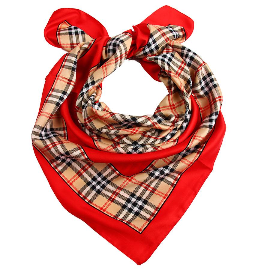 Платок женский Venera, цвет: красный, бежевый. 3907733-2. Размер 90 см х 90 см3907733-2Стильный женский платок Venera изготовлен из 100% полиэстера и оформлен оригинальным принтом в клетку.Классическая квадратная форма позволяет носить платок на шее, украшать им прическу или декорировать сумочку.Такой платок превосходно дополнит любой наряд и подчеркнет ваш неповторимый вкус и элегантность.