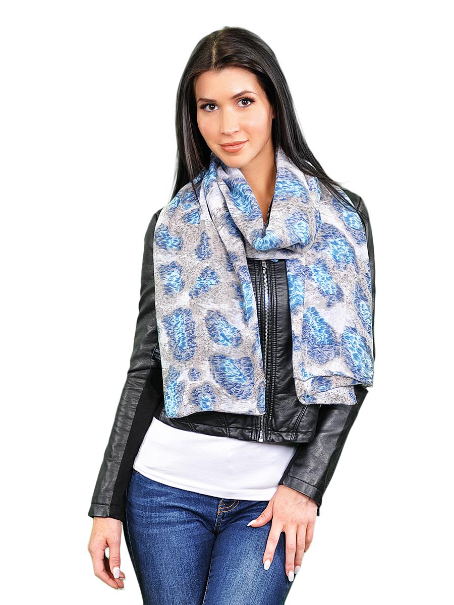 Палантин женский Venera, цвет: серо-бежевый, голубой. 2716601-3. Размер 90 см х 180 см2716601-3Элегантный палантин Venera согреет вас в прохладную погоду и станет достойным завершением вашего образа.Палантин изготовлен из вискозы с добавлением полиэстера и оформлен оригинальным принтом. Такой палантин красиво драпируется, а так же превосходно дополнит любой ваш наряд и подчеркнет изысканный вкус.
