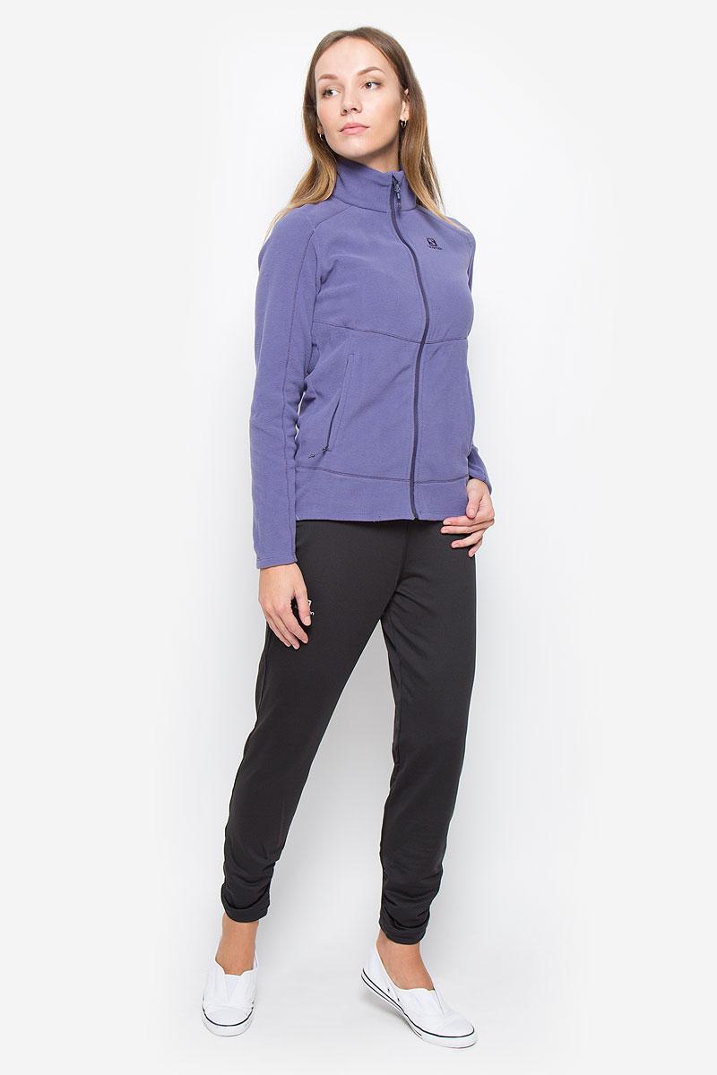 Брюки спортивные женские Salomon Elevate Warm, цвет: черный. L38253300. Размер M (44/46)L38253300Спортивные женские брюки Salomon Elevate Warm выполнены из плотного эластичного полиэстера. Модель имеет широкую резинку на поясе, объем талии регулируется при помощи шнурка-кулиски. Изделие дополнено двумя небольшими втачными кармашками на поясе. Плоские швы защищают от натирания. Низ брючин оформлен мелкими складками.