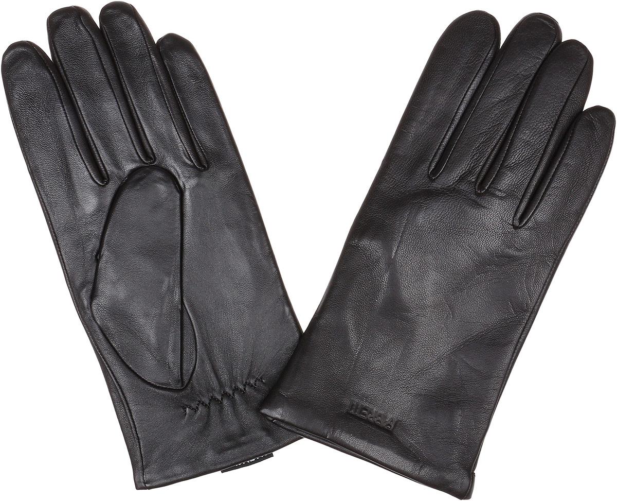 Перчатки мужские Fabretti, цвет: темно-коричневый. S1.35-2. Размер 8,5S1.35-2 chocolateМужские перчатки Fabretti Touch Screen не только защитят ваши руки от холода, но и станут незаменимым аксессуаром. Модель изготовлена из натуральной кожи на подкладке из шерсти с добавлением кашемира. Современные технологии обработки кожи позволяют работать с любыми сенсорными дисплеями, не снимая перчатки. Модель выполнена в лаконичном стиле и дополнена надписью бренда. Перчатки Fabrettiстанут завершающим и подчеркивающим элементом вашего стиля.