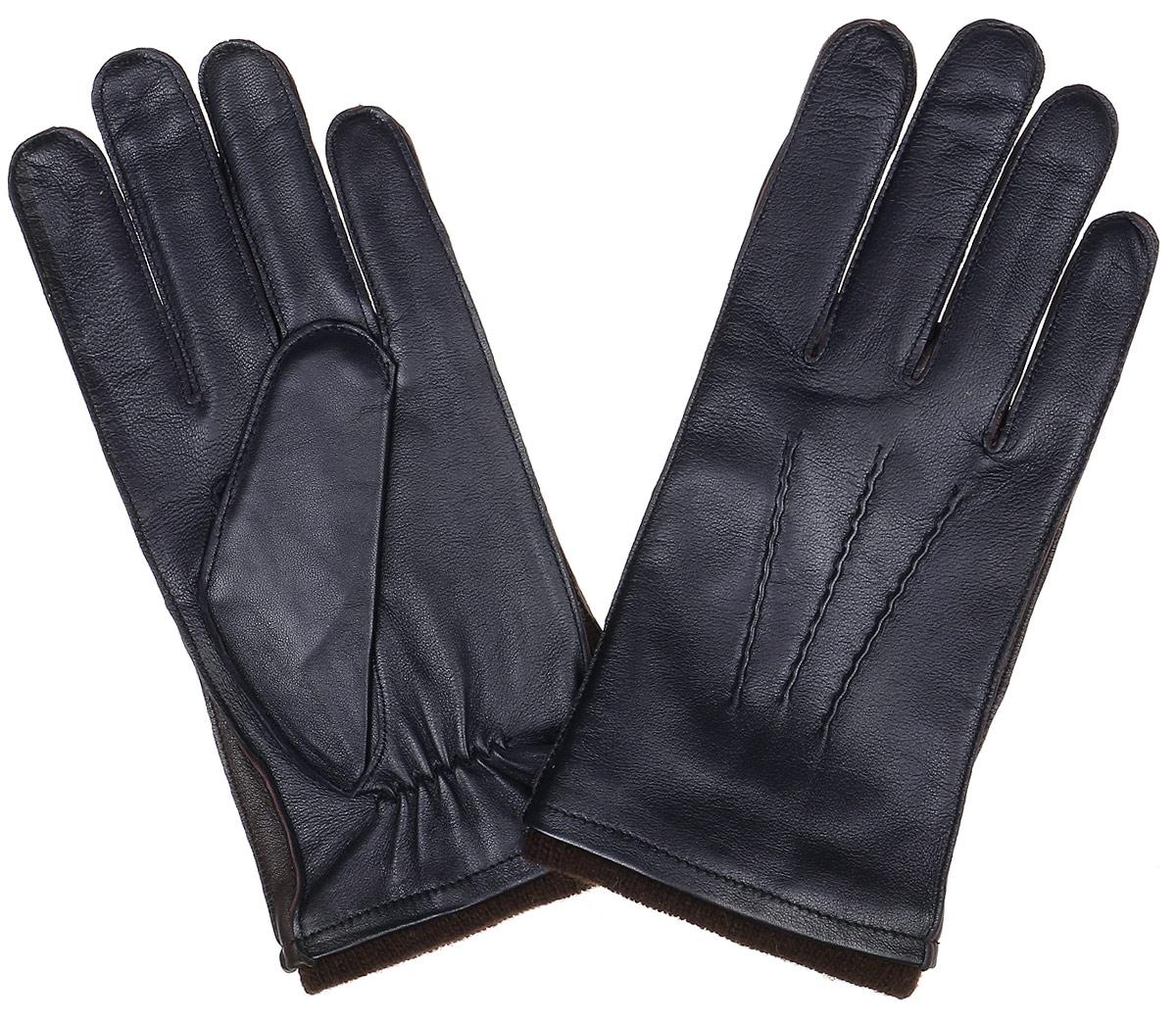 Перчатки мужские Fabretti, цвет: темно-синий. 12.48-12. Размер 1012.48-12 navyСтильные мужские перчатки Fabretti не только защитят ваши руки, но и станут великолепным украшением. Перчатки выполнены из натуральной кожи ягненка, а их подкладка - из высококачественной шерсти с добавлением кашемира.Модель дополнена декоративными швами в виде трех лучей. Перчатки имеют строчки-стежки на запястье, которые придают большее удобство при носке.Стильный аксессуар для повседневного образа.