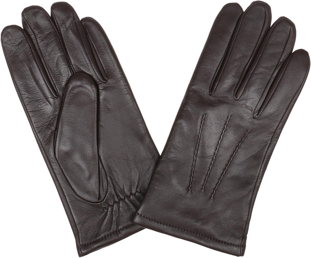Перчатки мужские Fabretti, цвет: коричневый. 12.42-2. Размер 9,512.42-2 chocolateСтильные мужские перчатки Fabretti не только защитят ваши руки, но и станут великолепным украшением. Перчатки выполнены из натуральной кожи ягненка, а их подкладка - из высококачественной шерсти с добавлением кашемира.Модель дополнена декоративными швами в виде трех лучей. Перчатки имеют строчки-стежки на запястье, которые придают большее удобство при носке.Стильный аксессуар для повседневного образа.