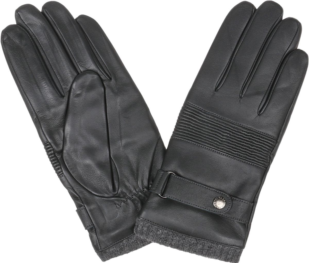 Перчатки мужские Fabretti, цвет: темно-серый. 12.50-9. Размер 912.50-9 greyСтильные мужские перчатки Fabretti не только защитят ваши руки, но и станут великолепным украшением. Перчатки выполнены из натуральной кожи ягненка, а их подкладка - из высококачественной шерсти с добавлением кашемира.Модель дополнена небольшим хлястиком на кнопке на запястье, пропущенным через металлическую шлевку. Изделие имеет строчки-стежки на запястье, которые придают большее удобство при носке, также верхняя сторона перчаток дополнена эластичной резинкой, собранной в гармошку. Манжеты модели выполнены из вязанной резинки. Стильный аксессуар для повседневного образа.