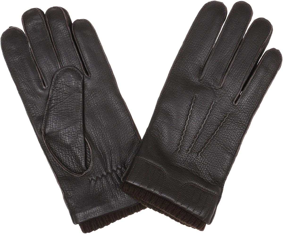 Перчатки мужские Fabretti, цвет: темно-коричневый. 2.55-4. Размер 92.55-4 brownСтильные мужские перчатки Fabretti не только защитят ваши руки от холода, но и станут великолепным украшением. Перчатки выполнены из натуральной кожи с подкладкой из шерсти и кашемира. Модель декорирована прострочкой три луча и дополнена стяжкой на запястье.Перчатки станут завершающим и подчеркивающим элементом вашего стиля.