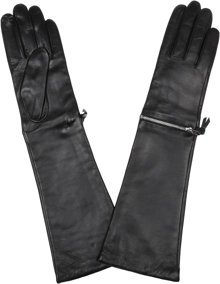Перчатки женские Fabretti, цвет: черный. 12.33-1. Размер 6,512.33-1 blackЭлегантные удлиненные женские перчатки Fabretti станут великолепным дополнением вашего образа и защитят ваши руки от холода и ветра во время прогулок. Перчатки выполнены из натуральной кожи ягненка. Модель декорирована металлической застёжкой-молнией. Такие перчатки будут оригинальным завершающим штрихом в создании современного модного образа, они подчеркнут ваш изысканный вкус и станут незаменимым и практичным аксессуаром.