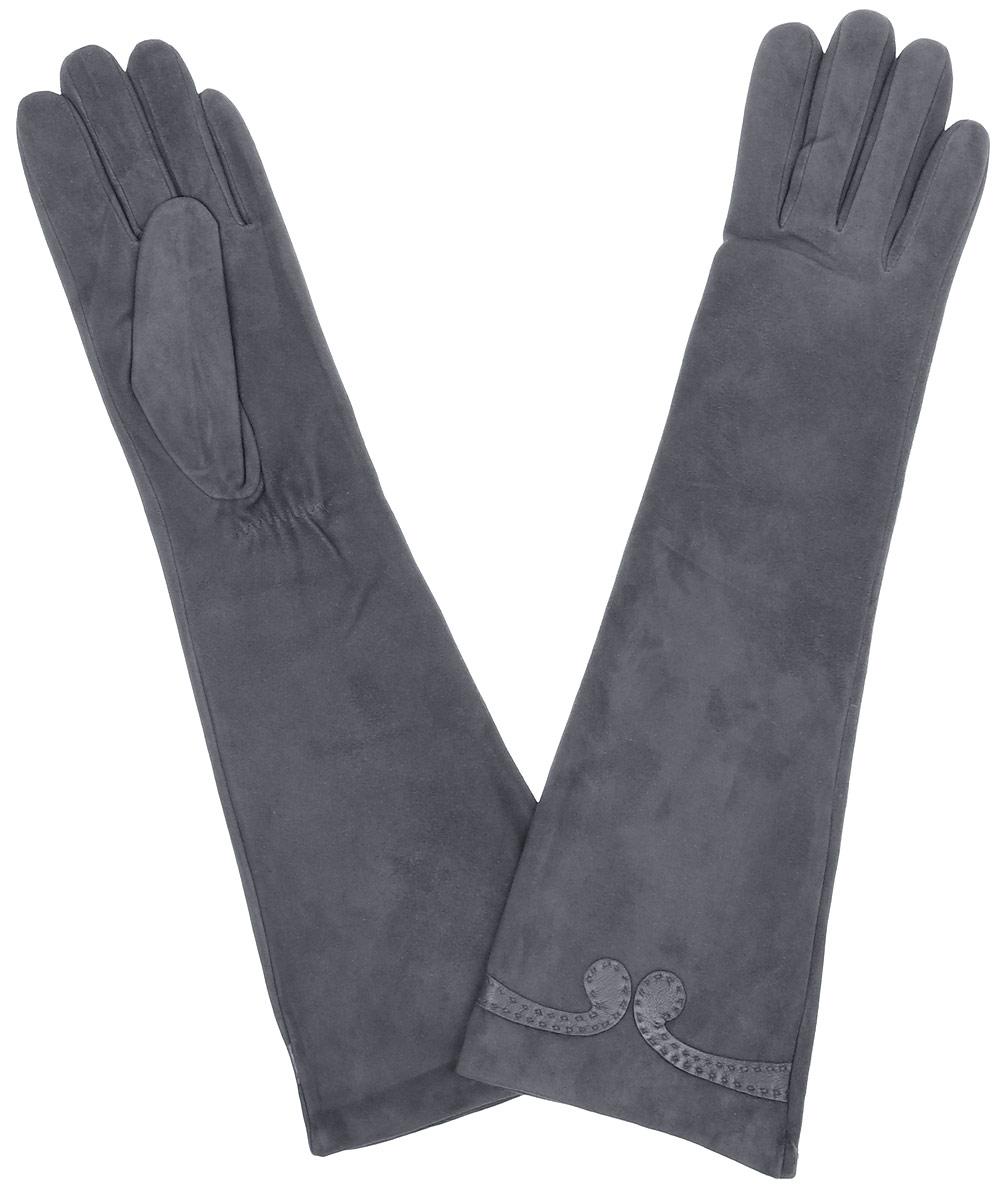 Перчатки женские Fabretti, цвет: серый. 2.84-9. Размер 7,52.84-9 greyЭлегантные удлиненные женские перчатки Fabretti станут великолепным дополнением вашего образа и защитят ваши руки от холода и ветра во время прогулок. Перчатки выполнены из натуральной кожи ягненка. Модель декорирована небольшим узором из кожи. Такие перчатки будут оригинальным завершающим штрихом в создании современного модного образа, они подчеркнут ваш изысканный вкус и станут незаменимым и практичным аксессуаром.