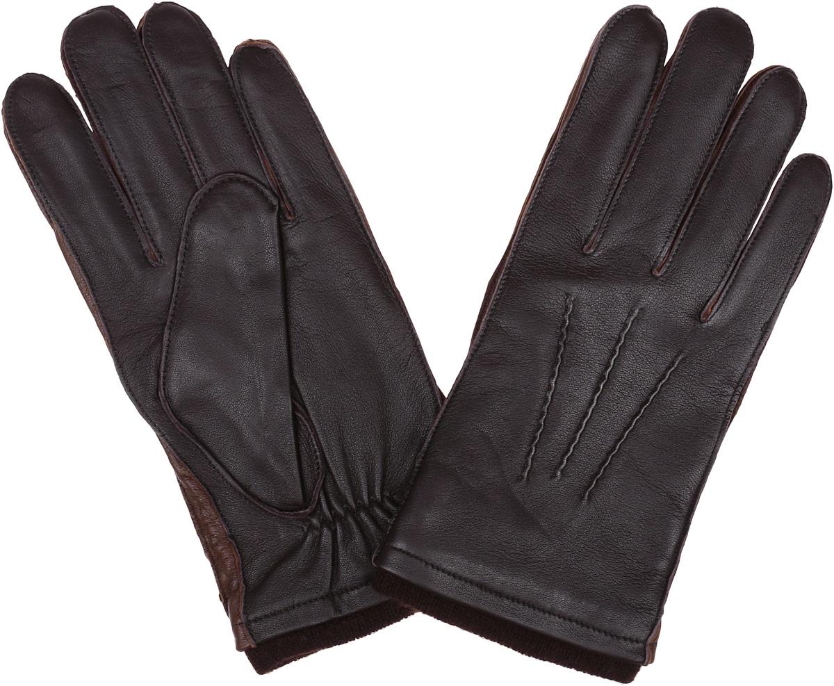 Перчатки мужские Fabretti, цвет: шоколадный. 12.48-2. Размер 812.48-2 chocolateСтильные мужские перчатки Fabretti не только защитят ваши руки, но и станут великолепным украшением. Перчатки выполнены из натуральной кожи ягненка, а их подкладка - из высококачественной шерсти с добавлением кашемира.Модель дополнена декоративными швами в виде трех лучей. Перчатки имеют строчки-стежки на запястье, которые придают большее удобство при носке.Стильный аксессуар для повседневного образа.