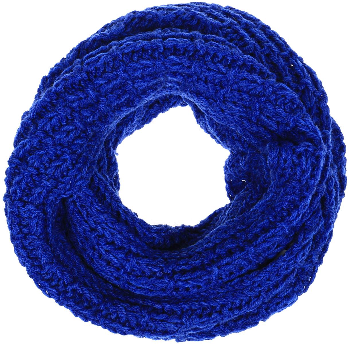 Снуд-хомут женский Baon, цвет: синий. B330. Размер 125 см х 80 смB330_MAJOLICA BLUEЖенский вязаный снуд-хомут Baon выполнен из высококачественной пряжи из шерсти и акрила. Модель связана кольцом и имеет крупную свободную вязку