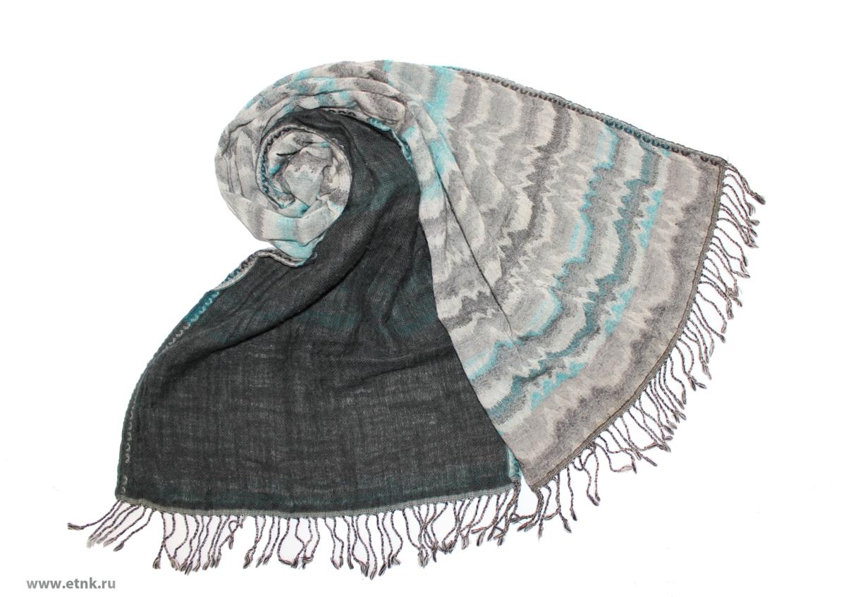 Шарф женский Ethnica, цвет: серый, белый. 079525а. Размер 50 см х 180 см079525аИзготавливается из натурального сырья с использованием натуральных красителей. Оформлен оригинальным принтом.