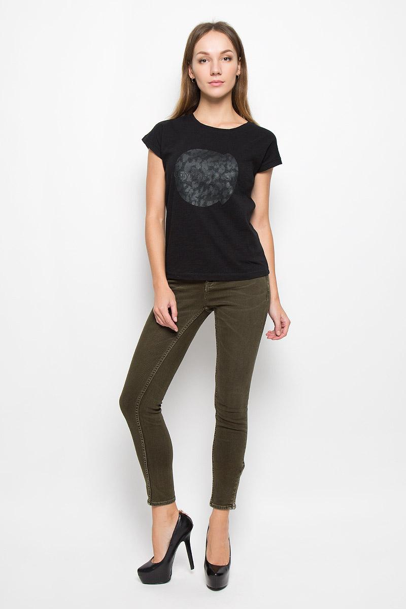 Джинсы женские Calvin Klein Jeans, цвет: темно-зеленый. J20J200627. Размер 28 (44)s2221Женские джинсы Calvin Klein Jeans выполнены из эластичного хлопка. Укороченная модель-скинни застегивается на пуговицу и имеет ширинку на молнии. Предусмотрены шлевки для ремня. Спереди расположены два втачных кармана и один маленький накладной, сзади - два накладных кармана. На брючинах снизу предусмотрены застежки-молнии.