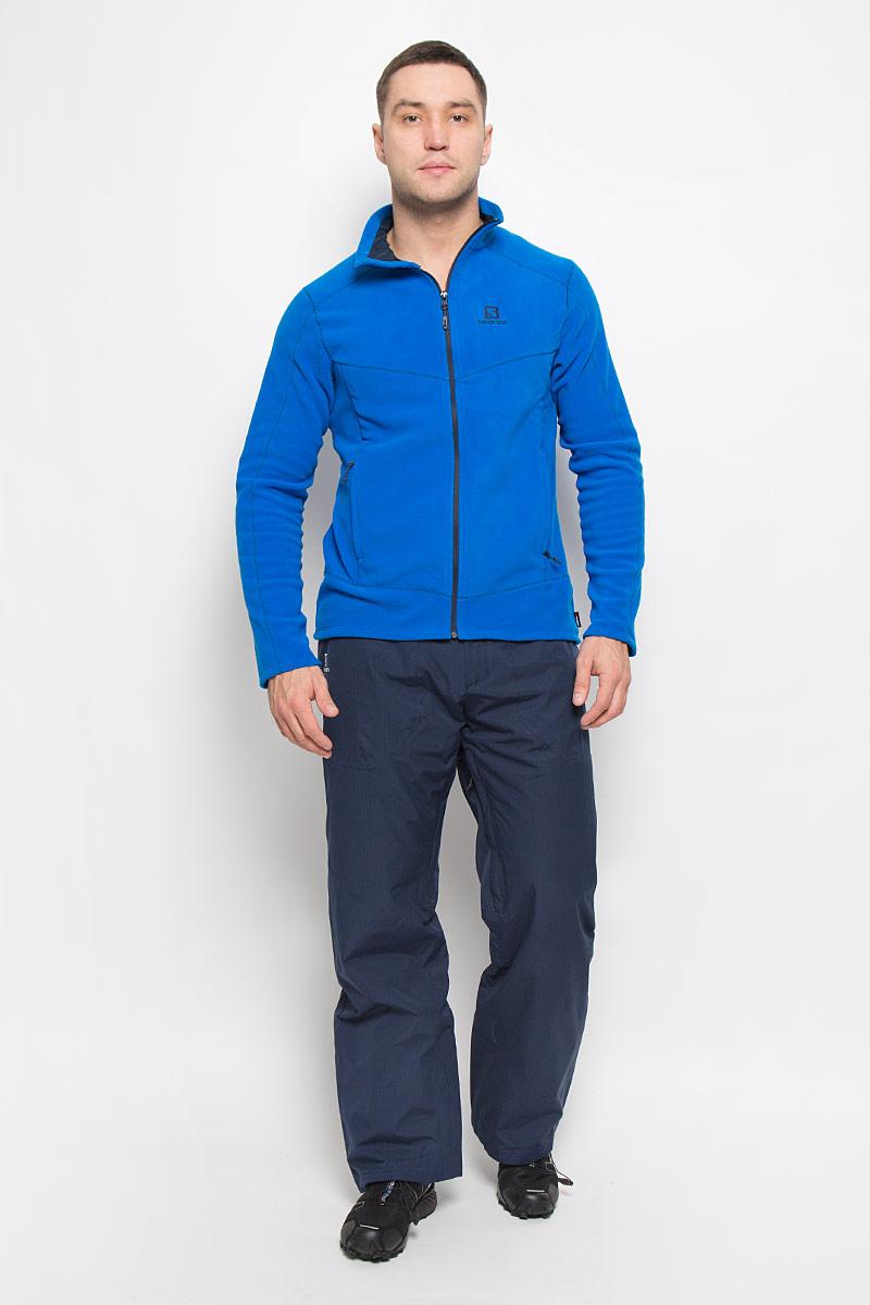 Брюки утепленные мужские Salomon Stormspotter Pant, цвет: темно-синий. L38275200. Размер L (52/54)L38275200Утепленные мужские брюки Stormspotter Pant от Salomon подарят вам особенный комфорт во время занятия спортом.Модель изготовлена из высококачественного полиэстера. Благодаря технологии Advanced Skin Dry 10/10 материал предотвращает проникновение влаги и хорошо пропускает воздух. Подкладка выполнена из нейлона и полиэстера. В качестве наполнителя используется полиэстер. Брюки прямого кроя застегиваются на металлическую кнопку и крючок в поясе, и ширинку на застежке-молнии. Широкий пояс дополнен вшитым ремешком с липучками и эластичной резинкой для идеальной посадки. На поясе имеются шлевки для ремня. С внутренней стороны брючины дополнены снегозащитными манжетами на резинках. Спереди находятся два накладных кармана с застежками-молниями. Вдоль внутренних швов проходят застежки-молнии, расстегнув которые обеспечивает естественная вентиляция.