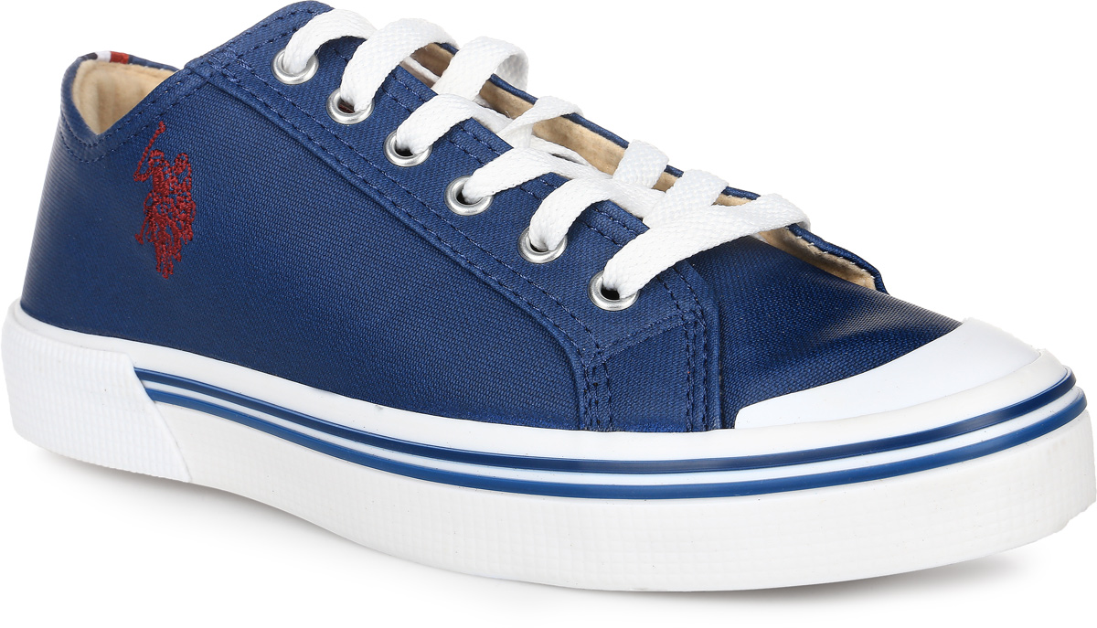 Кеды женские U.S. Polo Assn., цвет: темно-синий. S082SZ033UMCK6ALEX-320. Размер 38 (38)S082SZ033UMCK6ALEX-320Кеды U.S. Polo Assn. выполнены из высококачественной искусственной кожи и оформлены вышивкой с изображение логотипа бренда. Задник оформлен фирменной нашивкой. На ноге модель фиксируется с помощью шнурков. Внутренняя поверхность выполнена из утепленного текстиля, комфортного при движении. Стелька выполнена из мягкого ЭВА-материала с текстильной поверхностью. Подошва изготовлена из высококачественной резины и дополнена протектором, который гарантирует отличное сцепление с любой поверхностью.