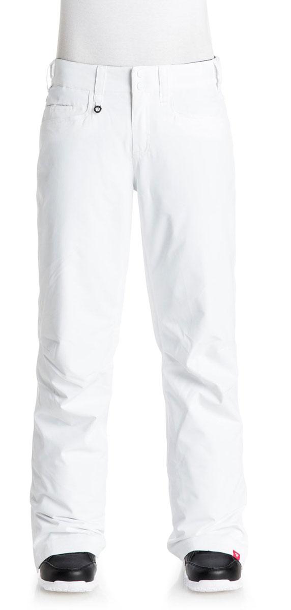 Брюки для сноуборда женские Roxy Backyard, цвет: белый. ERJTP03024-WBB0. Размер L (46)ERJTP03024-WBB0Женские брюки для сноуборда с утеплителем Warmflight (40 г).Подкладка из легкой тафты. Критические швы проклеены. Утяжки в районе талии. Система пристегивания куртки к штанам.Система утяжки краев штанин (предотвращает износ и загрязнение).Штанины со вставкой на кнопке.Вентиляция за счет сеточных вставок.Штанины с гейтерами из тафты.Холдер для скипасса.
