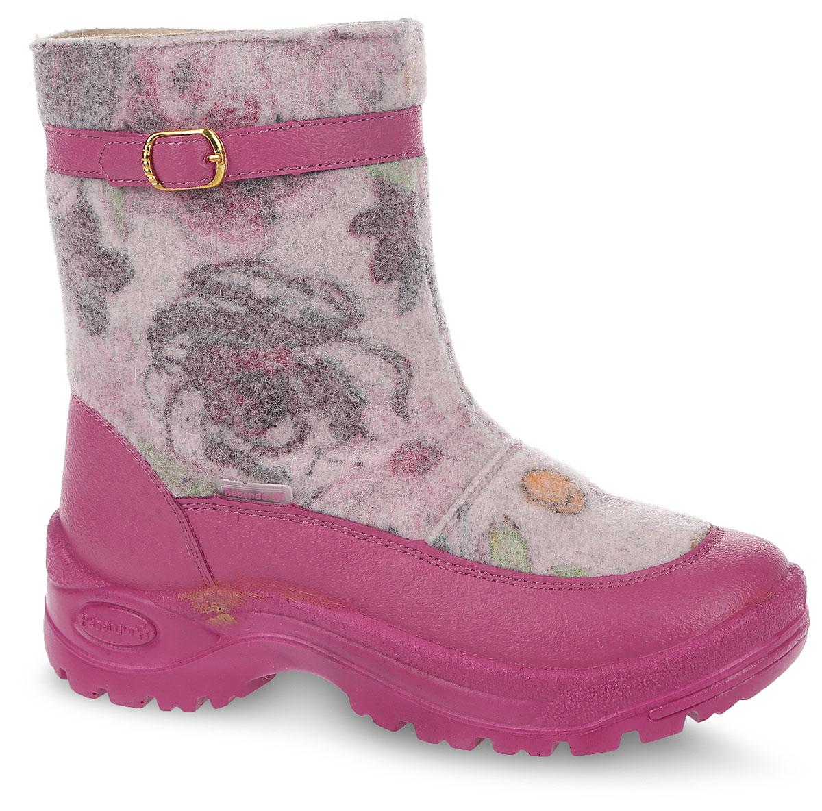 Валенки для девочки Филипок Роззи, цвет: розовый. 20355. Размер 3120355Валенки Филипок выполнены из качественного войлока. Подошва изготовлена из полиуретана и дополнена протектором, который обеспечит отличное сцепление с любой поверхностью.