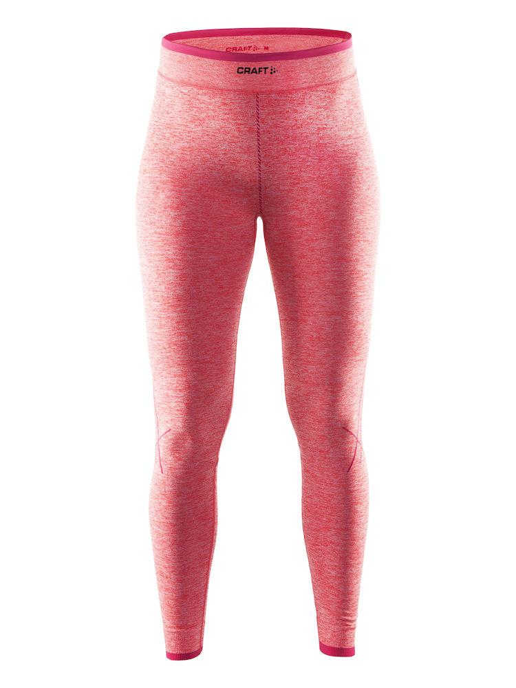 Термобелье брюки женские Craft Active Comfort, цвет: розовый меланж. 1903715. Размер L (48)1903715Универсальное женское термобелье. Мягкая и эластичная, легкая, но согревающая ткань термобелья сохранит ваше тело в тепле, сухости и комфорте. Прекрасная терморегуляция, свободный крой и плоские швы. Различные зоны плотности материала с учетом картографии тела. Бесшовный дизайн для оптимальной свободы движений.