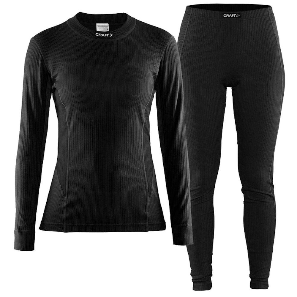 Термобелье женское Craft Active Multi: брюки, кофта, цвет: черный. 1903728. Размер XS (42)1903728Мягкая и эластичная, легкая, но согревающая ткань термобелья сохранит ваше тело в тепле, сухости и комфорте. Прекрасная терморегуляция, свободный крой и плоские швы. Различные зоны плотности материала с учетом картографии тела. Бесшовный дизайн для оптимальной свободы движений. Комплект термобелья для спорта, активного отдыха и повседневной носки в прохладную погоду.
