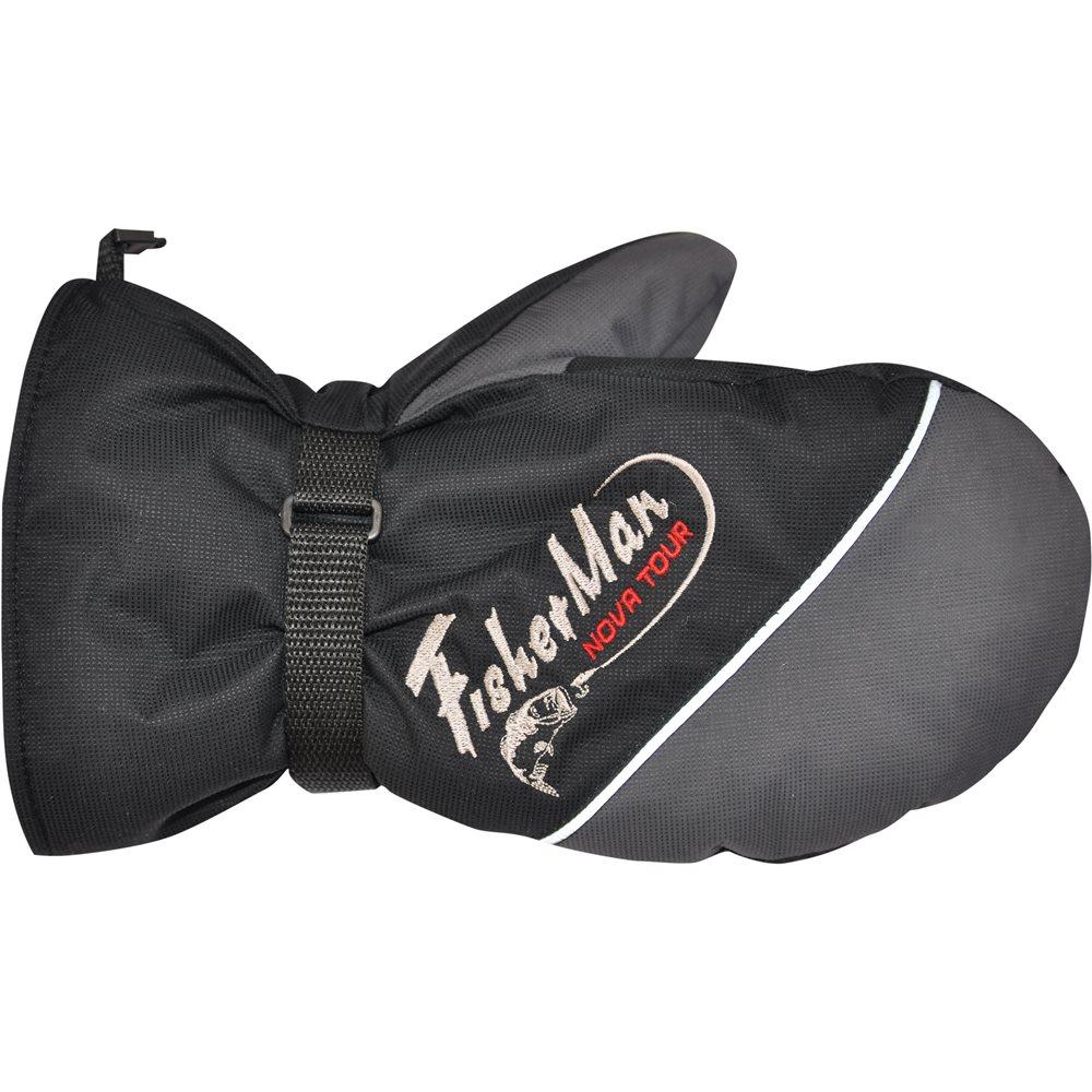 Варежки для рыбалки Nova Tour Тенар, цвет: серый, черный. 95910-961. Размер XL (9,5) перчатки nova tour перчатки флис утепленные puffin down w