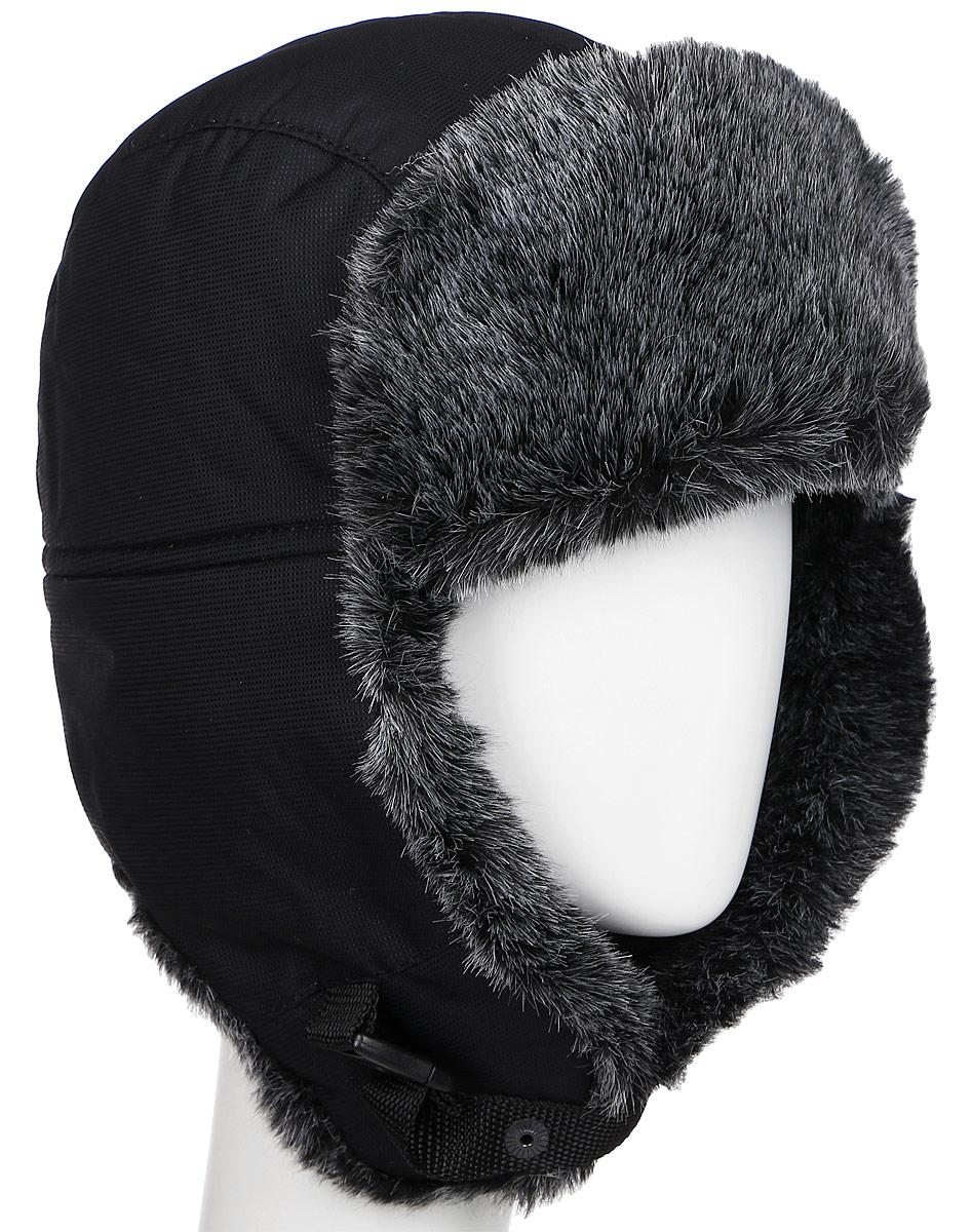 Шапка-ушанка Nova Tour Тепор М V2, цвет: черный. 95863-901. Размер 5795863-901Очень теплая шапка-ушанка для зимней рыбалки и активного отдыха на свежем воздухе!