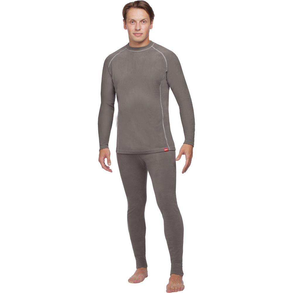 Термобелье кофта мужская Nova Tour Поларис V2, цвет: темно-серый. 54323-911. Размер S (50)54323-911Мужская кофта выполнена из высококачественного материала. Поларис - специальная серия для использования в холодную и прохладную погоду при среднем уровне активности. Рекомендуется также использовать в качестве второго, утепляющего слоя одежды. Круглый ворот рубашки позволяет носить ее под любой одеждой. Плоские швы обеспечивают максимальный комфорт.Отличные теплоизолирующие и влагоотводящие свойства термобелья делают его незаменимым в холодную погоду. Быстро отводит влагу с поверхности тела и передает ее в следующий слой одежды.