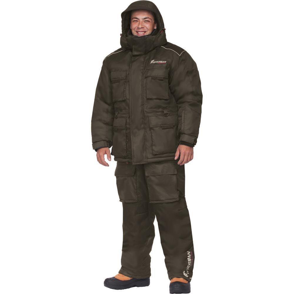 Костюм мужской рыболовный FisherMan Nova Tour Буран Норд, цвет: черный. 46233-901. Размер L (54)46233-901Новая версия Бурана, самый теплый зимний костюм для рыбалки в ассортименте! Костюм состоит из куртки, жилета-подстежки и полукомбинезона. Отличительной особенностью костюма является наличие отстегивающегося жилета, который может использоваться как самостоятельный элемент одежды. Съемный жилет и двухзамковая молния костюма позволяют использовать его и в более теплую погоду. Также в костюме Буран Норд используется новый утеплитель - Termo MAX, который дольше сохраняет форму изделия, а также поможет Вам сохранить тепло даже в самые суровые морозы.Анатомический крой на рукавах и в коленях обеспечивает свободу движений. Удобство и функциональность костюма Буран Норд заключаются в деталях:- Регулировка рукавов и низа брюк по ширине препятствует попаданию воды, снега, а также задуванию холодного воздуха.- Внутренние флисовые манжеты прекрасно сохраняют тепло.- Теплый съемный капюшон, регулирующийся по объему.- Восемь внешних карманов на куртке – небольшие карманы позволят разместить необходимые каждому рыбаку мелочи, а в карманы большего размера смогут поместиться даже бутерброд или небольшой термос.- Молнии оснащены хлястиками – удобно открывать карман даже в объемных рукавицах.- Регулировка полукомбинезона по росту и эластичные боковые вставки обеспечивают хорошую посадку по фигуре.- В области колена – дополнительный карман для ножа.- Также в области колена имеются кармашки для вставки теплоизолирующих вкладышей.- Вставки из плотного износостойкого материала на коленях и в задней части комбинезона.- Костюм компактно упаковывается в специальную сумку.Буран Норд идеально подходит для зимней рыбалки, катания на снегоходе, а также работы в самых тяжелых погодных условиях.