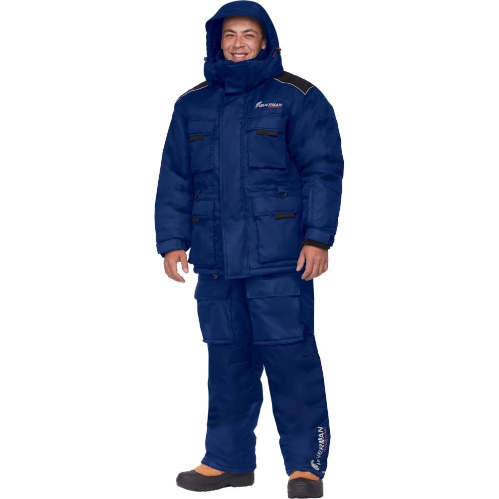 Костюм мужской рыболовный FisherMan Nova Tour Буран Норд, цвет: синий. 46233-407. Размер L (54)46233-407Новая версия Бурана, самый теплый зимний костюм для рыбалки в ассортименте! Костюм состоит из куртки, жилета-подстежки и полукомбинезона. Отличительной особенностью костюма является наличие отстегивающегося жилета, который может использоваться как самостоятельный элемент одежды. Съемный жилет и двухзамковая молния костюма позволяют использовать его и в более теплую погоду. Также в костюме Буран Норд используется новый утеплитель - Termo MAX, который дольше сохраняет форму изделия, а также поможет Вам сохранить тепло даже в самые суровые морозы.Анатомический крой на рукавах и в коленях обеспечивает свободу движений. Удобство и функциональность костюма Буран Норд заключаются в деталях:- Регулировка рукавов и низа брюк по ширине препятствует попаданию воды, снега, а также задуванию холодного воздуха.- Внутренние флисовые манжеты прекрасно сохраняют тепло.- Теплый съемный капюшон, регулирующийся по объему.- Восемь внешних карманов на куртке – небольшие карманы позволят разместить необходимые каждому рыбаку мелочи, а в карманы большего размера смогут поместиться даже бутерброд или небольшой термос.- Молнии оснащены хлястиками – удобно открывать карман даже в объемных рукавицах.- Регулировка полукомбинезона по росту и эластичные боковые вставки обеспечивают хорошую посадку по фигуре.- В области колена – дополнительный карман для ножа.- Также в области колена имеются кармашки для вставки теплоизолирующих вкладышей.- Вставки из плотного износостойкого материала на коленях и в задней части комбинезона.- Костюм компактно упаковывается в специальную сумку.Буран Норд идеально подходит для зимней рыбалки, катания на снегоходе, а также работы в самых тяжелых погодных условиях.