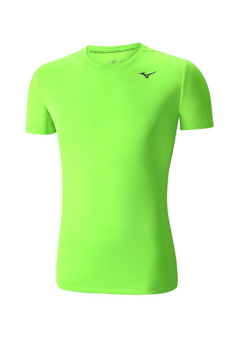 Футболка мужская Mizuno Core Tee, цвет: зеленый. J2GA4012T-35. Размер M (48)J2GA4012T-35Мужская футболка предназначена для различных спортивных активностей и базовых тренировок. Мягкая ткань для большего комфорта.
