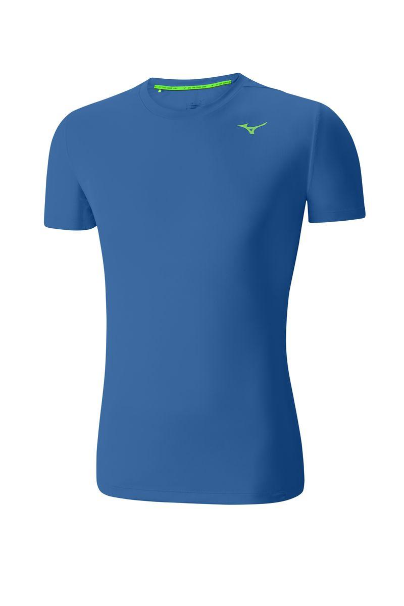 Футболка мужская Mizuno Core Tee, цвет: синий. J2GA4012T-25. Размер M (48)J2GA4012T-25Мужская футболка предназначена для различных спортивных активностей и базовых тренировок. Мягкая ткань для большего комфорта.