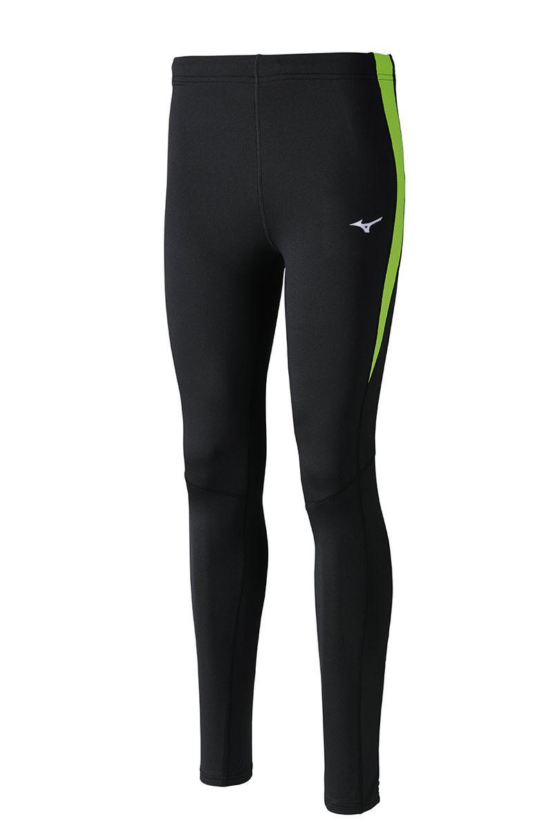 Тайтсы мужские Mizuno Warmalite Venture, цвет: черный, зеленый. J2GB6520-93. Размер S (46)J2GB6520-93Тайтсы выполнены из высококачественного материала, который облегчает терморегуляцию тела зимой. Мягкая ткань из полиэстера для высокого комфорта. Задний карман на молнии, внутренний шнурок для лучшей посадки.