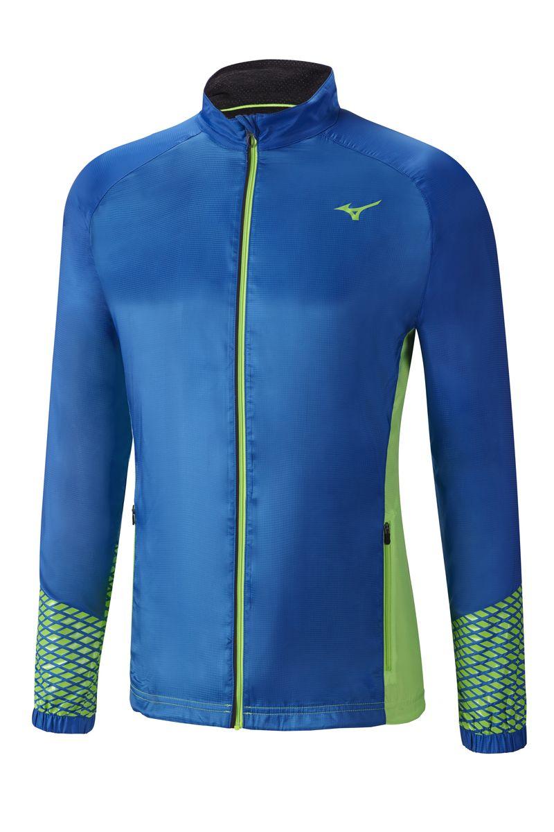 Куртка мужская Mizuno Breath Thermo, цвет: синий, зеленый. J2GE6513-25. Размер XXL (54)J2GE6513-25Куртка мужская Breath Thermo для лучшей терморегуляции зимой. Влаго- и ветрозащитный верх и мягкий полиэстер внутри для превосходного комфорта. Модель оформлена двумя карманами. Дизайн вдохновлен Кавара - традиционной японской башней.
