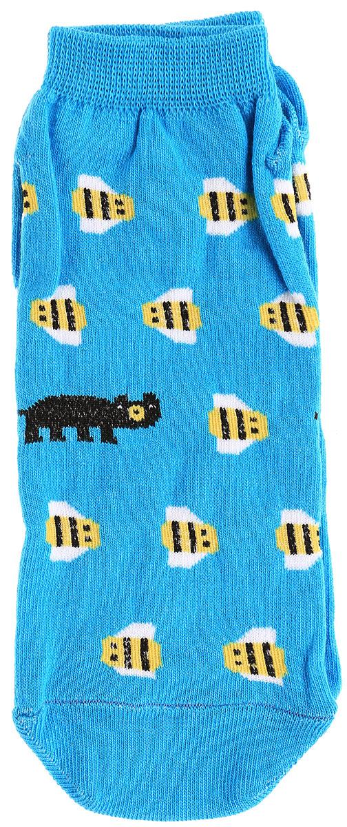 Носки мужские Big Bang Socks Медведь и пчела, цвет: голубой. s2232. Размер 40/44s2232Яркие мужские носки Big Bang Socks Медведь и пчела изготовлены из высококачественного хлопка с добавлением полиамидных и эластановых волокон, которые обеспечивают великолепную посадку. Носки отличаются ярким стильным дизайном. Удобная резинка идеально облегает ногу и не пережимает сосуды, а укороченный паголенок придает более эстетичный вид.