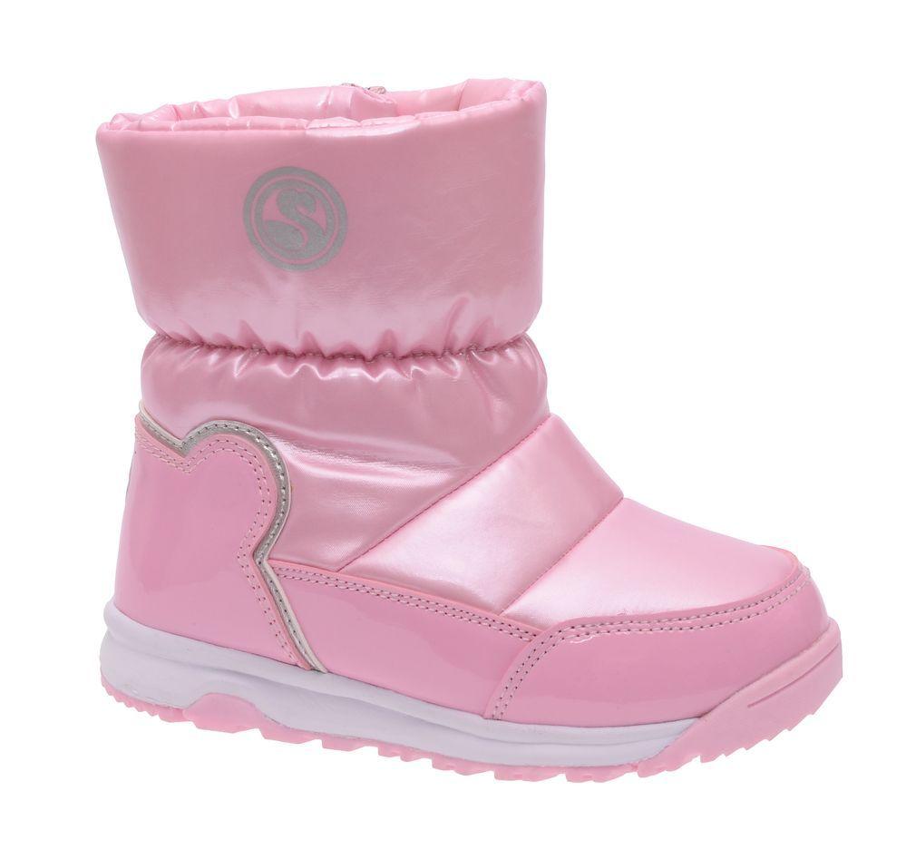 Дутики для девочки Flamingo, цвет: розовый. W6NQ023. Размер 30W6NQ023Модные дутики для девочки от Flamingo выполнены из нейлона и искусственной лакированной кожи. Подкладка и стелька из натуральной шерсти не дадут ногам замерзнуть. Застегивается модель на боковую застежку-молнию. Подошва дополнена рифлением.