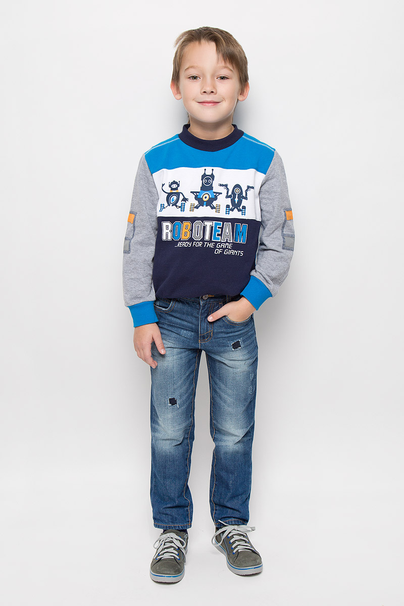 Джинсы для мальчика Tom Tailor, цвет: синий. 6204954.01.82_1095. Размер 1046204954.01.82_1095Стильные джинсы Tom Tailor, изготовленные из натурального хлопка, необычайно мягкие и приятные на ощупь, не сковывают движения и позволяют коже дышать, не раздражают даже самую нежную и чувствительную кожу ребенка, обеспечивая наибольший комфорт.Джинсы-скинни застегиваются на крючок в поясе и ширинку на застежке-молнии. С внутренней стороны пояс дополнен регулируемой эластичной резинкой, которая позволяет подогнать модель по фигуре. Спереди джинсы дополнены двумя втачными карманами и маленьким накладным кармашком, сзади - двумя накладными карманами. Модель оформлена контрастной прострочкой, перманентными складками, эффектом потертости и декоративными заплатками.
