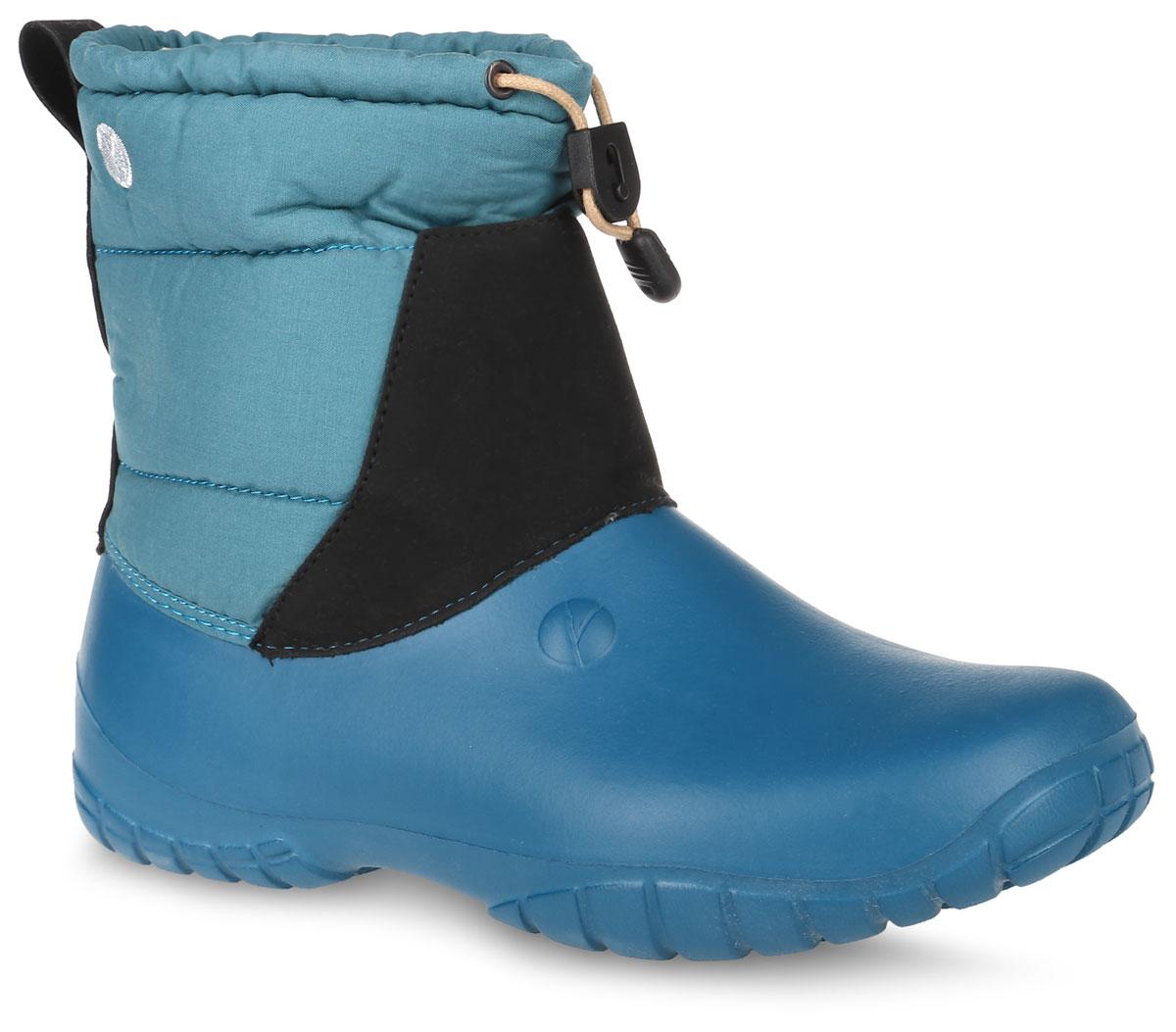 Дутики мужские резиновые OYO, цвет: голубой, черный. 1СТН. Размер 431СТНДутики от OYO выполнены из высококачественного текстиля, который не пропускаем воду и ЭВА-материала. Модель оформлена прострочкой. Объем голенища регулируется с помощью шнурка с бегунком. Внутренняя поверхность и стелька выполнены из искусственной шерсти, которая обеспечит тепло. Подошва изготовлена из легкого ЭВА-материала и оснащена протектором, который обеспечит отличное сцепление с любой поверхностью.