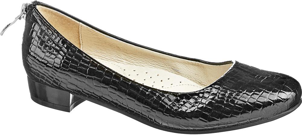 Туфли для девочки Keddo, цвет: черный. 568126/08-01. Размер 32568126/08-01Стильные туфли для девочки Keddo выполнены из искусственной лакированной кожи и оформлены тиснением под рептилию. Задник дополнен декоративной застежкой-молнией. Внутренняя поверхность и стелька из натуральной кожи обеспечат комфорт при движении. Подошва и невысокий каблук дополнены рифлением.
