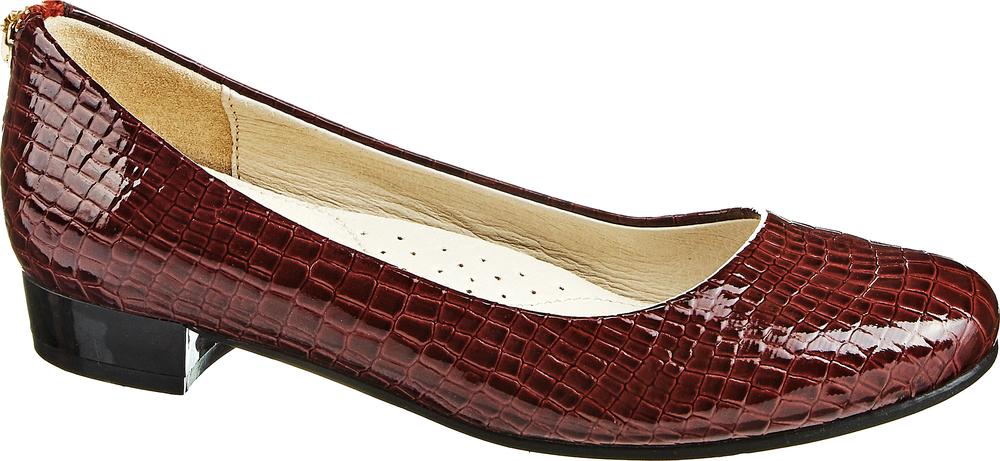 Туфли для девочки Keddo, цвет: бордовый. 568126/08-03. Размер 32568126/08-03Стильные туфли для девочки Keddo выполнены из искусственной лакированной кожи и оформлены тиснением под рептилию. Задник дополнен декоративной застежкой-молнией. Внутренняя поверхность и стелька из натуральной кожи обеспечат комфорт при движении. Подошва и невысокий каблук дополнены рифлением.