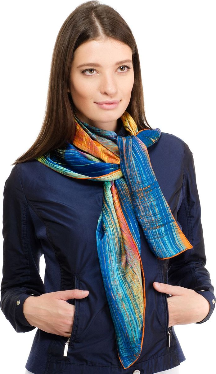 Платок женский Laccom, цвет: синий, желтый, красный. 1102. Размер 90 см х 90 см1102XПлаток от Laccom, выполненный из высококачественного материала, приятный на ощупь и подойдет к любому стилю.